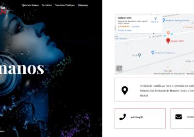 web taller serigrafi textil madrid Diseño paginas web