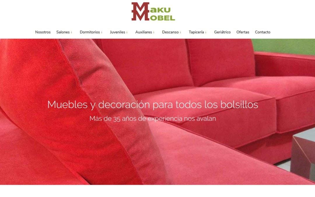 Diseño de pagina web para Tienda de Muebles y Decoración