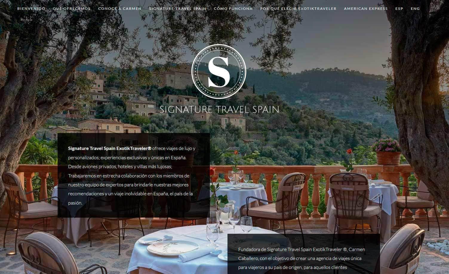 web viajes lujo espana spain