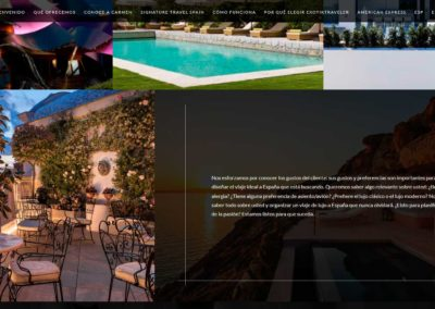 web viajes spain travel Diseño paginas web