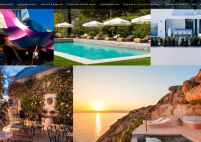 web villas hoteles lujo spain