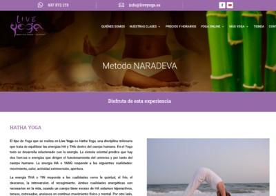 web yoga meditacion Diseño paginas web
