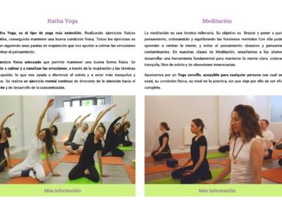 web yoga meditacion madrid Diseño paginas web