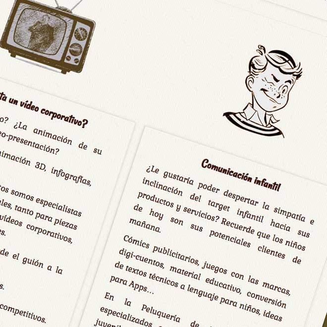 Diseño de página web para agencia creativa online