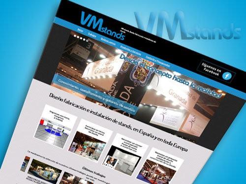 Página web para empresa de stands en Madrid