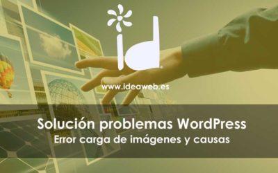 WordPress. Cómo solucionar el error de carga de imágenes en WordPress y sus causas principales
