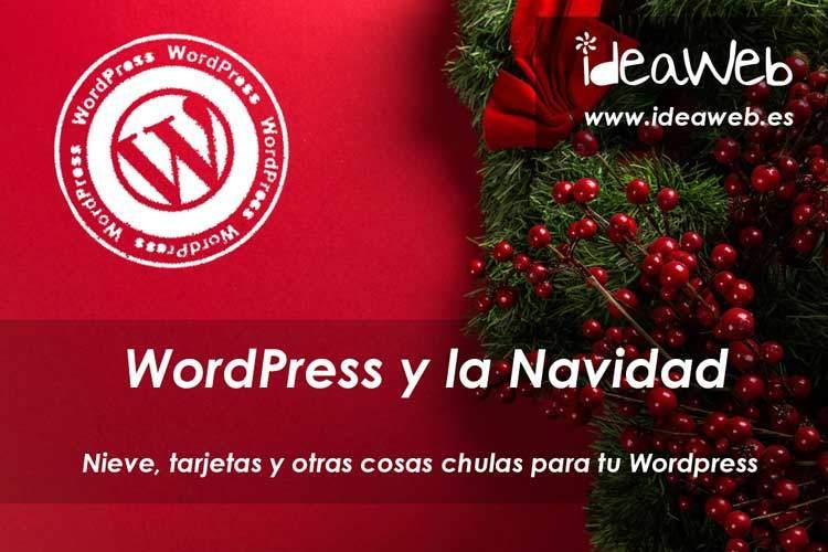 Wordpress y la navidad. Adornar tu página web WordPress con nieve, villancicos y otras cosas bonitas…