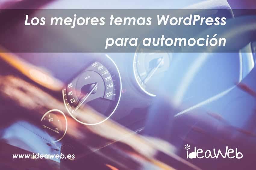 Temas o plantillas WordPress para coches y vehículos, cual es el mejor, opciones premium y gratuitas.