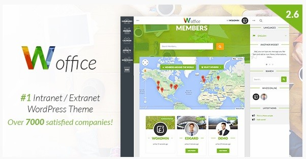 intranet wordpress tema