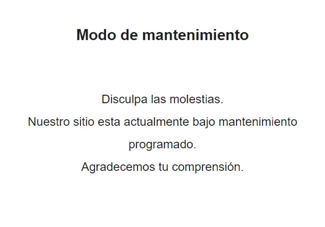 wp maintenance mode activado resultado Diseño paginas web